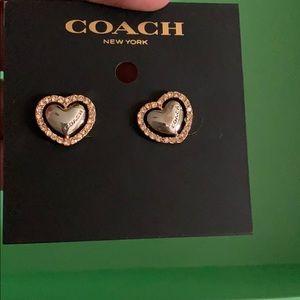 Coach Heart earrings
